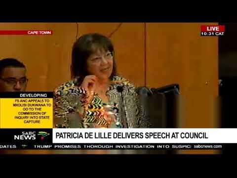 Patricia De Lille delivers speech at council Part 1