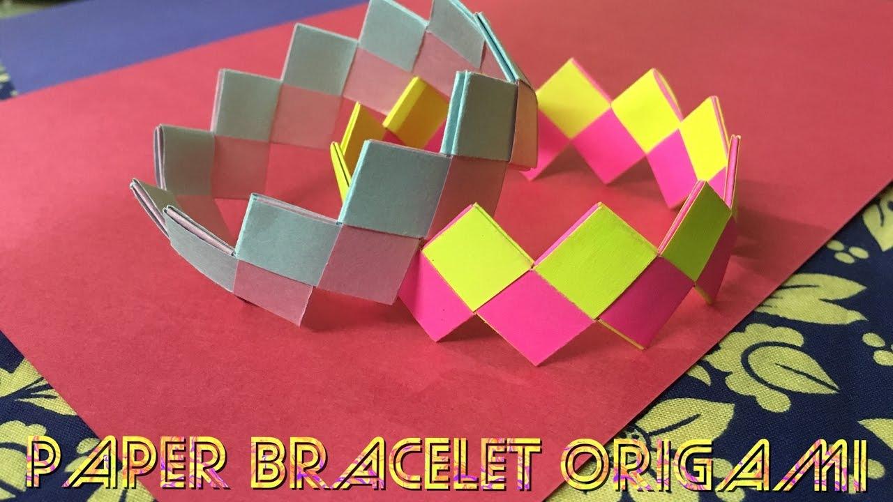 Paper Bracelet Origami Tutorial