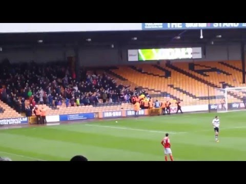 Crewe Alexandra fans tussle with stewards
