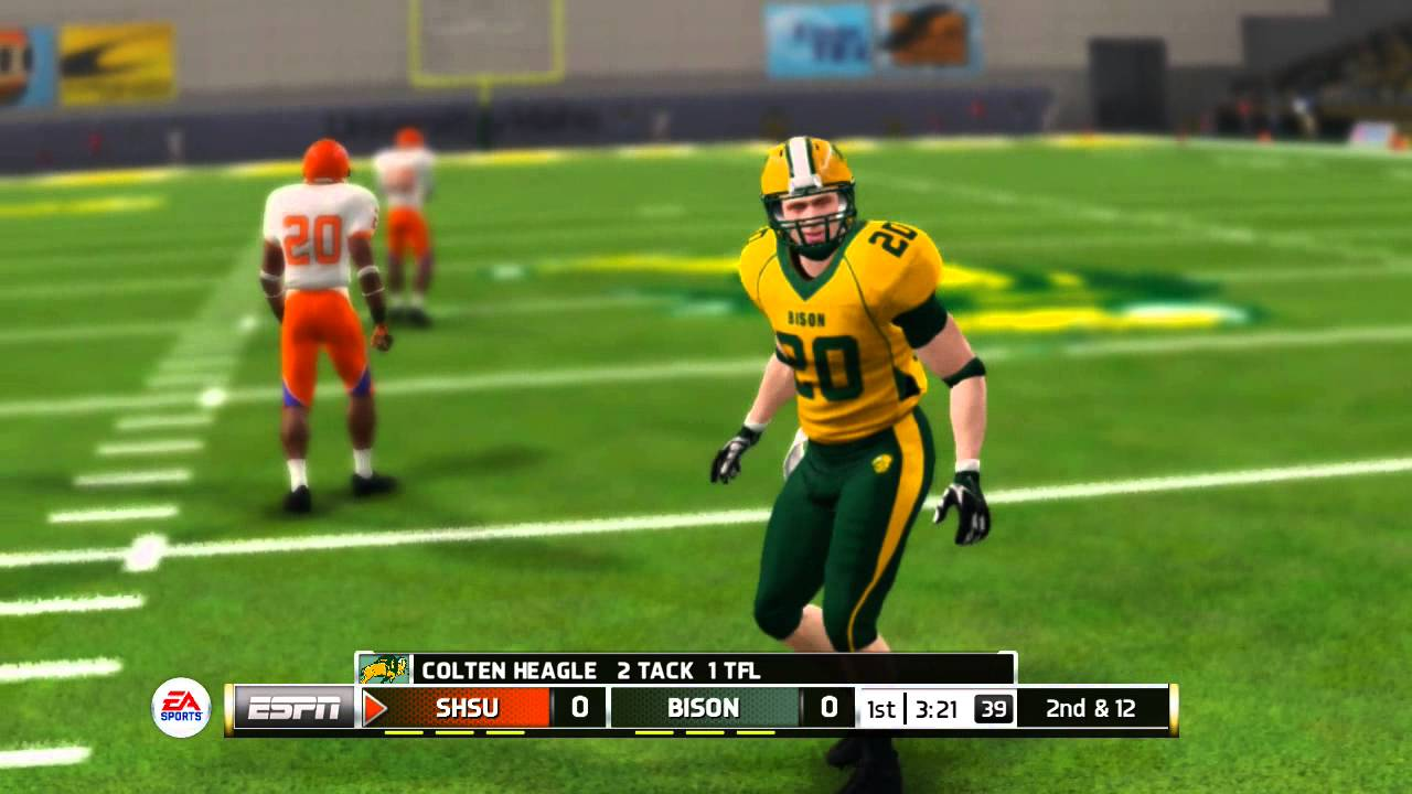 Ncaa Football 14 Fcs Snippet North Dakota St Vs Sam Houston St Youtube