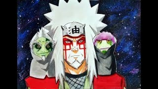 Jiraya  Modo Sennin Ft. Fukasaku&Shima - Speed Drawing (Naruto Shippūden)