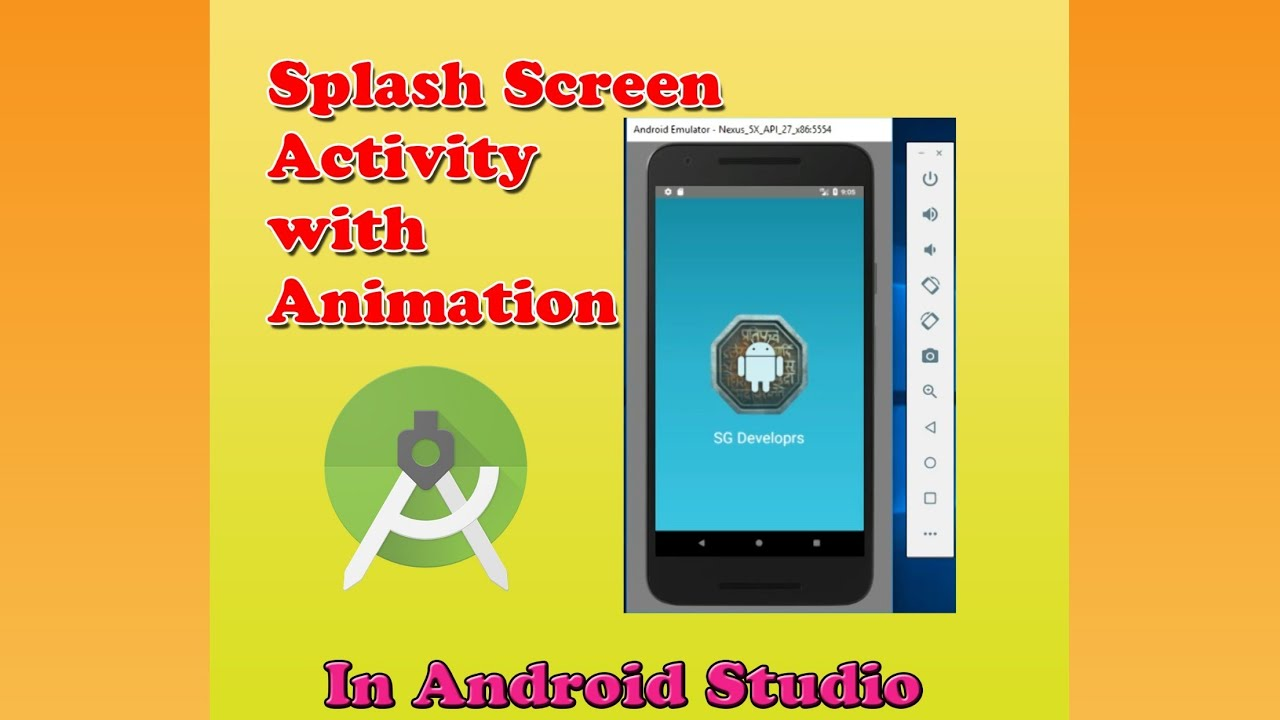 Splash Screen like professional with Animation in Android Studio || Android app development