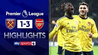 Arsenal score 3 goals in 9 minutes to end winless streak! | West Ham 1-3 Arsenal | EPL Highlights