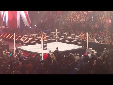 After WWE Raw in London went off the air, Chris Jericho gets some Mic time