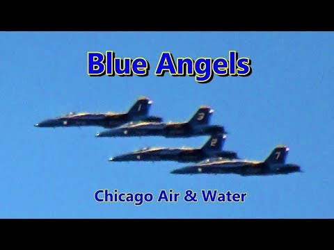 U.S. Navy Blue Angels ✈️ Chicago Air & Water Show 2019 Thurs Morning Practice Over Wrigleyville