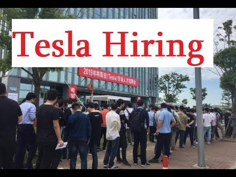 Tesla's Hugely Popular Shanghai Job Fair Currently Recruiting in 4 Areas