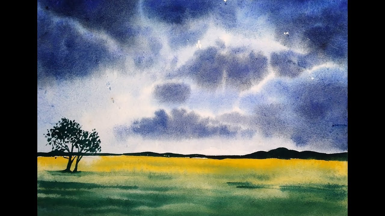 Watercolor Art Easy Landscape Tutorial For Beginners Paint With David