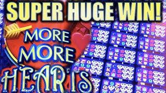 ★SUPER HUGE WIN!★ ALL 24 WINDOWS UNLOCKED!! ❤️ MORE MORE HEARTS Slot Machine Bonus [REPOST]