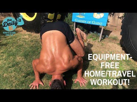 🏠🏨EQUIPMENT-FREE HOME/TRAVEL WORKOUT! | BJ Gaddour Men's Health Hotel Bodyweight