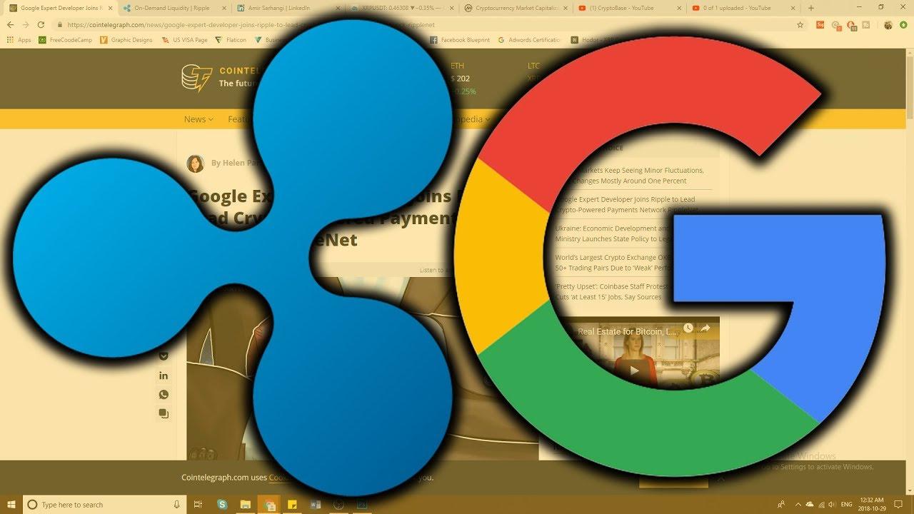 Huge Google Developer Joins Ripple (XRP)! - My Price Prediction!