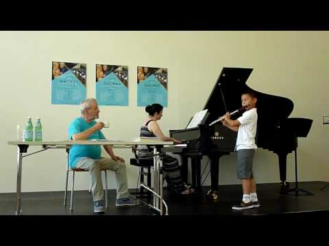 Masterclass with Sir James Galway, Part I: Julin Cheung, age 9, playing Chaminade Concertino
