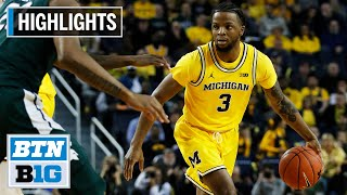 Gambar cover Highlights: Simpson Scores 16 in Win | Michigan State at Michigan | Feb. 8, 2020