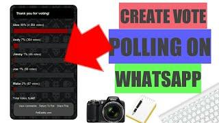 كيفية إنشاء التصويت الاستطلاع على ال WHATSAPP
