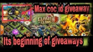 CLASH OF CLANS LIVE TH12 ID GIVEAWAY AND GAME PLAY ..(MY VOICE LESS) sorry for that 😅