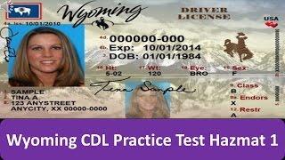 Wyoming CDL Practice Test Hazmat 1
