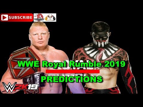 WWE Royal Rumble 2019 Universal Championship Brock Lesnar Vs Finn Balor (Demon) Predictions WWE 2K19