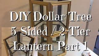 DIY 5 Sided Spring Lantern (part 1) Dollar Tree Supplies
