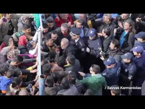 Refugees Block Police from Entering Elliniko Camp in Athens
