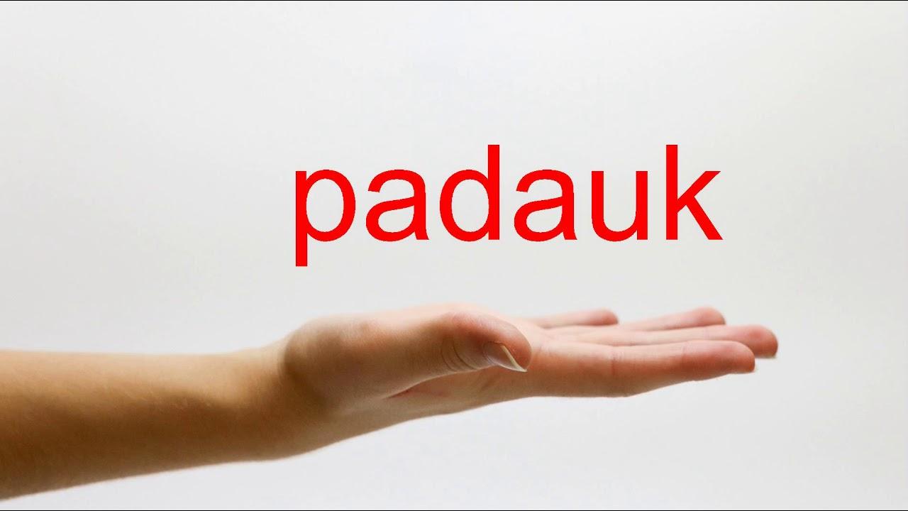 Padauk Pronunciation