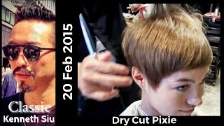 Kenneth Siu's Haircut - Dry Cut Pixie