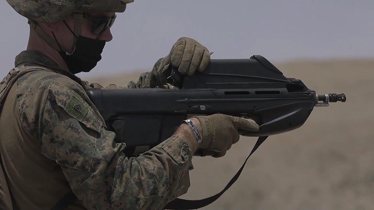 U.S. Marines Fire FN F2000 Assault Rifle - FN F2000 Shooting Range
