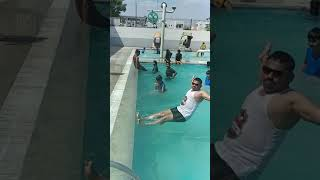 How to jump in Swimming pool