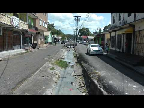 Tanner St. in St. John's, Antigua looking east from Market St.