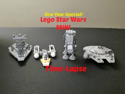 One Year Special! Lego MINI Rare (Millennium Falcon, Y Wing, Star Destroyer, AT-AT) Time-Lapse