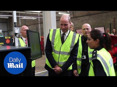 Prince William visits Heathrow's international logistics centre