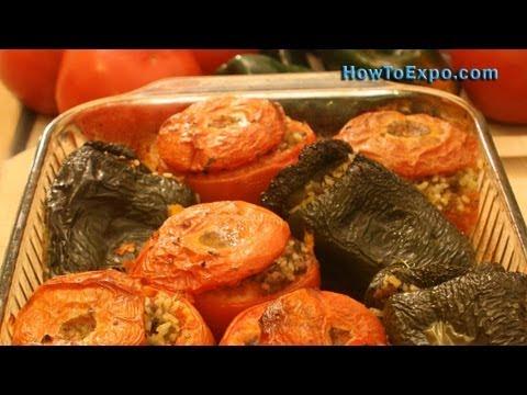 Greek Stuffed Tomatoes (Best Baked Stuffed Tomatoes Recipe)