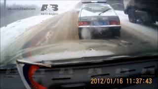 Подборка ДТП с видеорегистраторов 19 \ Car Crash compilation 19 thumbnail