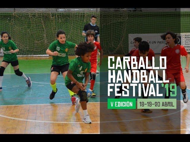 Imaxes da primeira xornada do Carballo Handball Festival 19