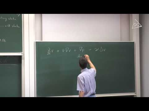 Euler and Navier-Stokes Equations (László Székelyhidi) Part 1