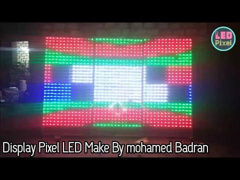 Display Pixel LED Make By Mohamed Badran from Egypt