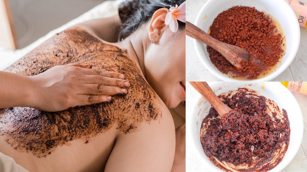 Sun Tan Removal Scrub For Bright & Glowing Skin | DIY Coffee Body Polishing Scrub For Skin Whitening