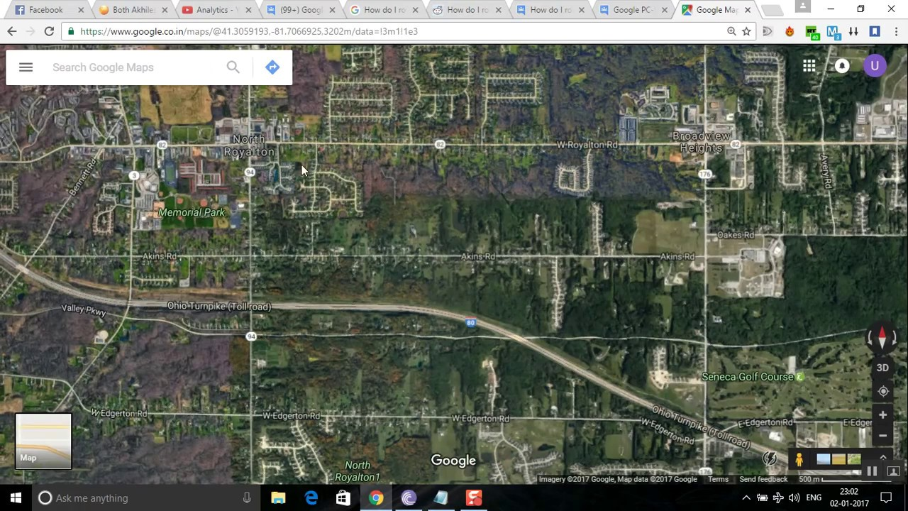 how to rotate the google maps satellite or map view using. Black Bedroom Furniture Sets. Home Design Ideas