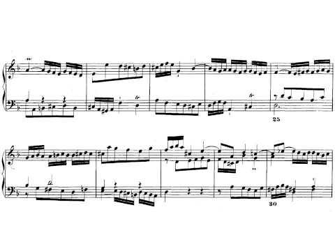 J.S. Bach. El clave bien temperado I. Fuga nº 6. Partitura on line.
