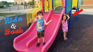 Kids Playing Hide and Seek at Playground! family fun video