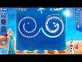 Disney Princess Elsa Anna Olaf Ice block Snowballs Puzzle learning Games