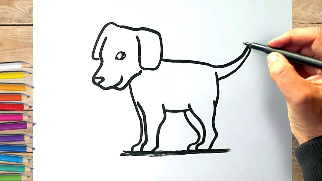 Comment dessiner un chien facile à dessiner