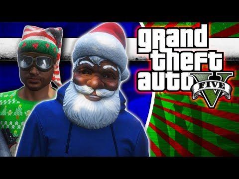 GTA 5 - Hood Santa and The Elf Gang!   Comedy Gaming