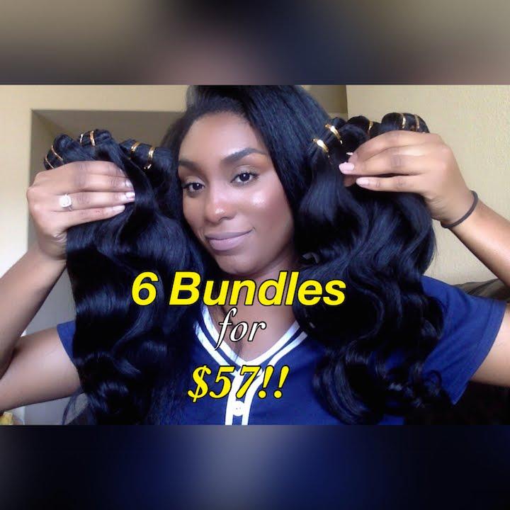 6 Bundles For 57 Virgin Brazilian Hair Free Fast