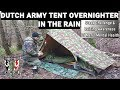 Dutch army tent overnighter in the rain | Steak challenge | Raising awareness of men's mental health