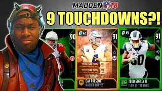 I HAVE TO SCORE 9 TOUCHDOWNS IN THIS VIDEO! Fortnite Battle Royale + Madden 18 Challenge Part 2!