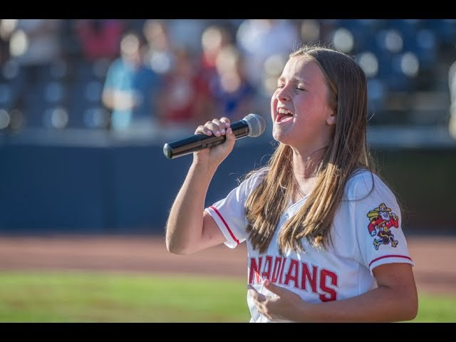 Victoria Anthony Singing the American & Canadian National Anthems