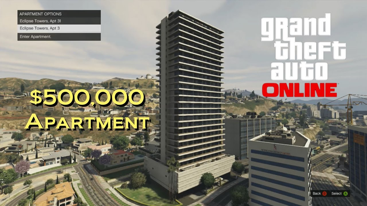 Gta Online Official 500 000 Apartment Tour Eclipse Towers Apt 3 High Life Update V You