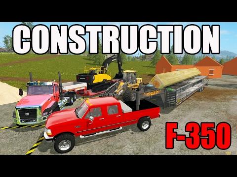 FARMING SIMULATOR 2017 - HAULING CONSTRUCTION MATERIALS AND EQUIPMENT - F-350 - 동영상