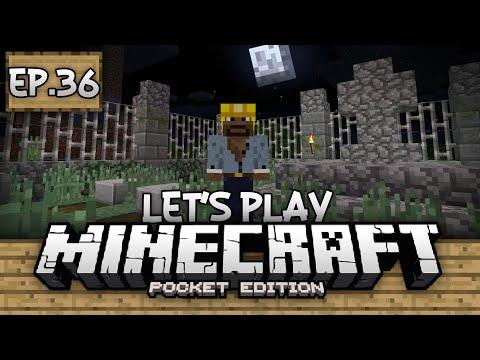 Survival Let's Play Ep. 36 - Spooky Cemetery!!! - Minecraft PE (Pocket Edition)