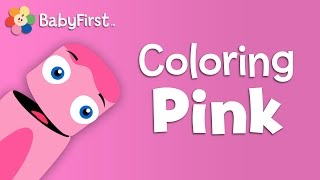 BabyFirstTV: Color Crew - Learn Colors - Pink | Color Lesson For Kids | Names Of Colors For Kids