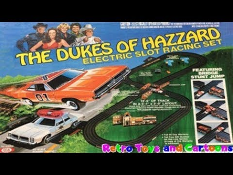 The Dukes of Hazzard Electric Slot Racing Set Ideal Commercial Retro Toys and Cartoons